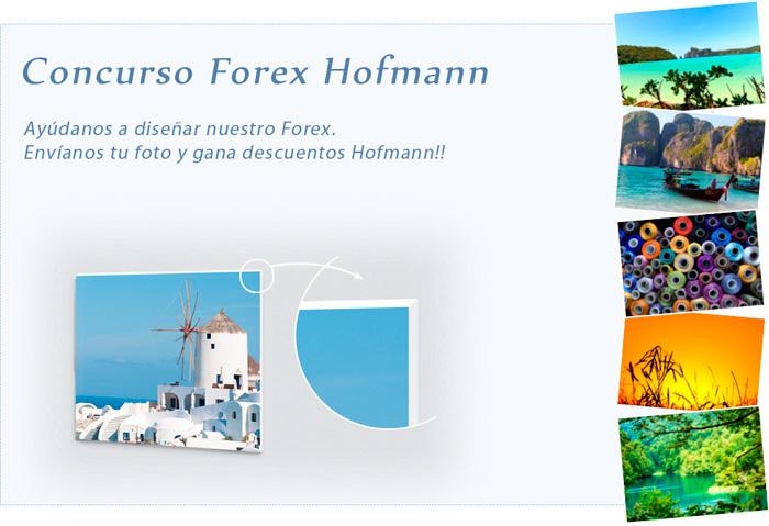 Participa en el concurso y gana un forex Hofmann