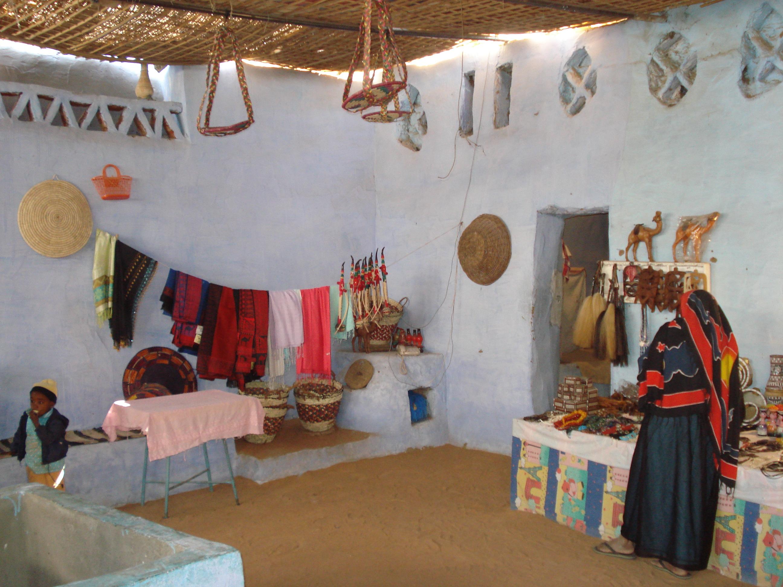 Decoracion Egipcia Casas ~ interior de una casa del poblado Nubio (Egipto)  Enviada por Rosa