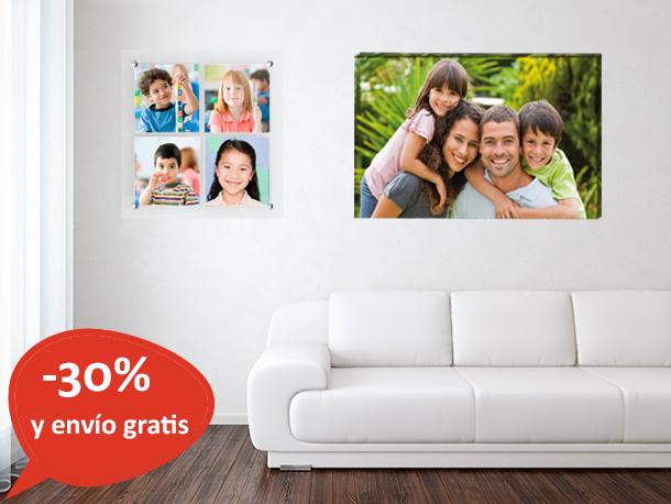 30 de descuento en cuadros lienzos metacrilatos forex for Como hacer un cuadro con fotos familiares