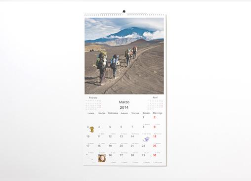 Calendario de pared XXL. El calendario más grande de Hofmann