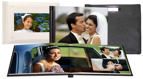 �lbum de fotos Premium con encuadernaci�n de lujo similar a piel
