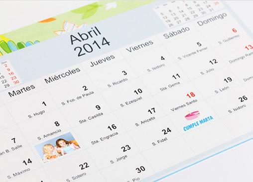 Calendario de Pared Disney con los personajes clásicos de Disney