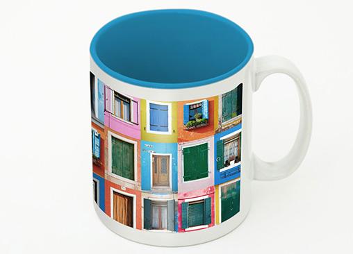 Taza Color Hofmann, personalízala con tus fotos y elige el color interior