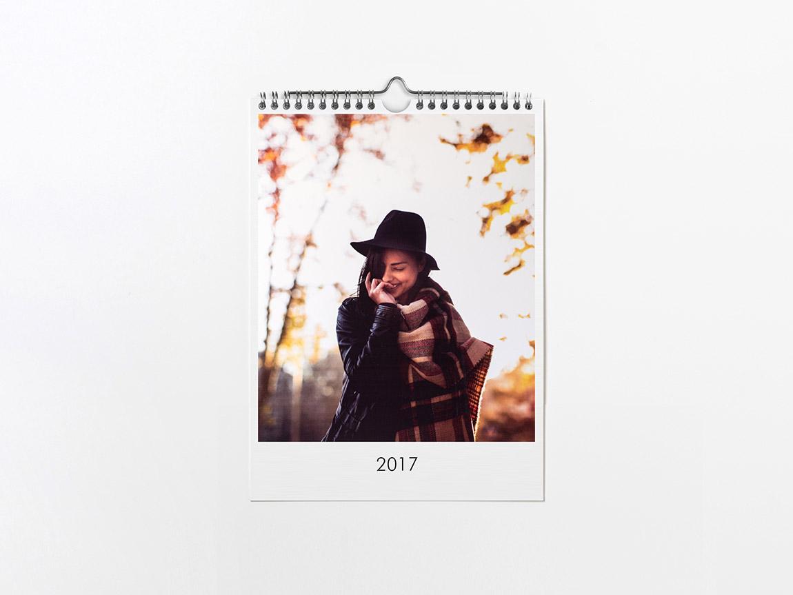 Calendario online de pared Hofmann de tamaño mediano