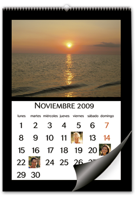 Calendario de Pared Mediano