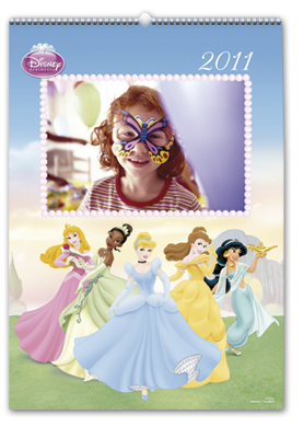 Calendario de Pared Princesas Disney (Mediano)