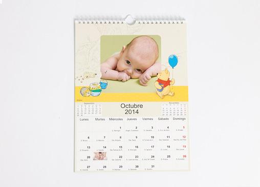Calendario de Pared Winnie The Pooh. Los preferidos por los peques de la casa.