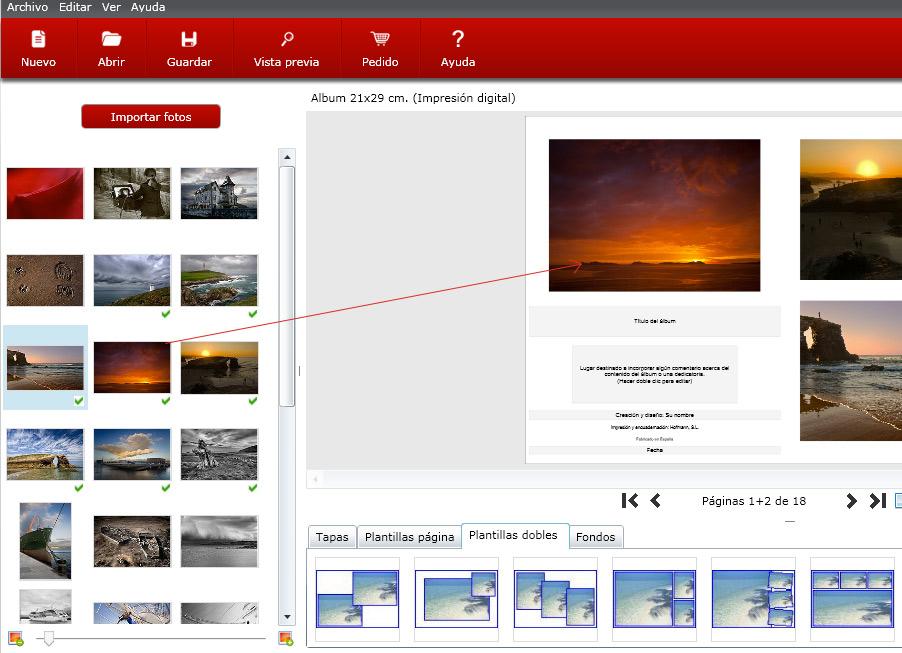 Seleccionar fotos hofmann paginas