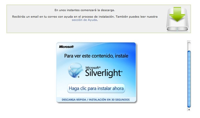 Descarga Silverlight